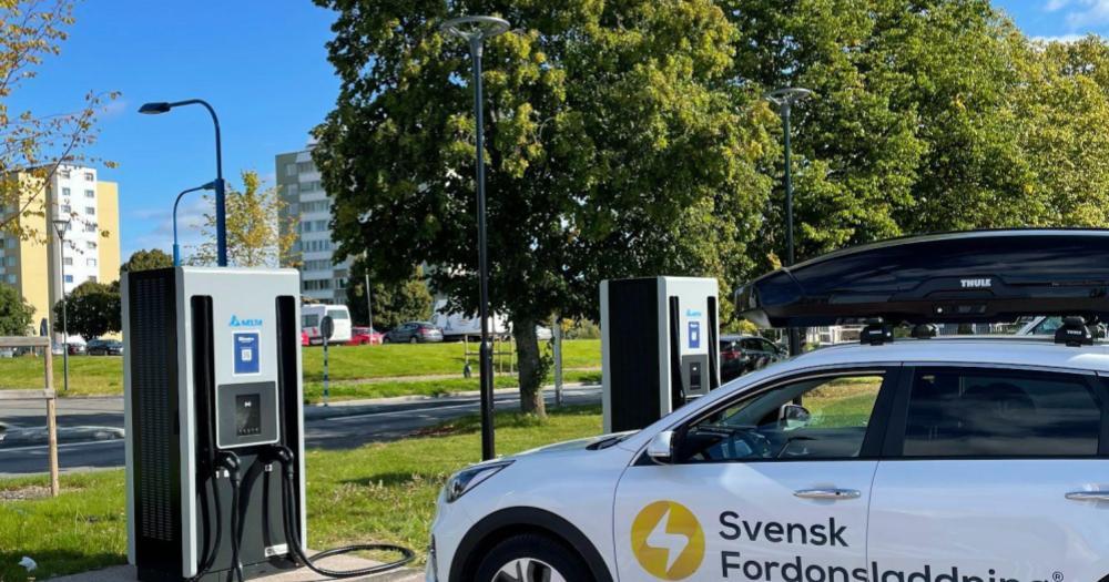 snabbladdare på Bilmetro i Ludvika
